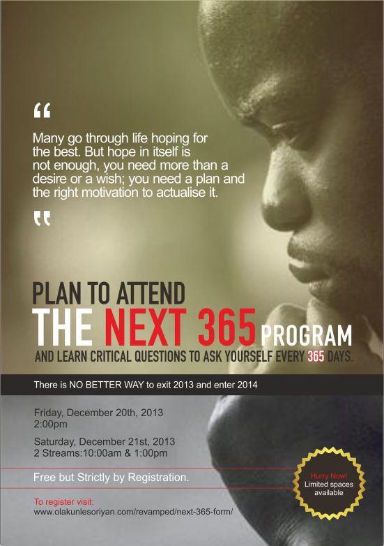 The Next 365 program
