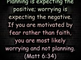 Are you planning or worrying?